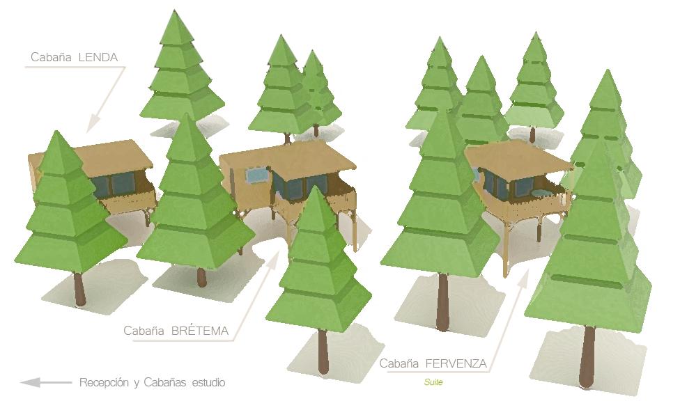 Mapa cabañas elevadas