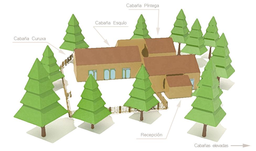 Mapa cabañas estudio